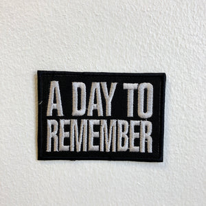 A Day to Remember Rock Band Iron Sew on Embroidered Patch - Patches-Badges