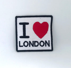 I Love London England Sign Logo Iron on Sew on Embroidered Patch - Patches-Badges