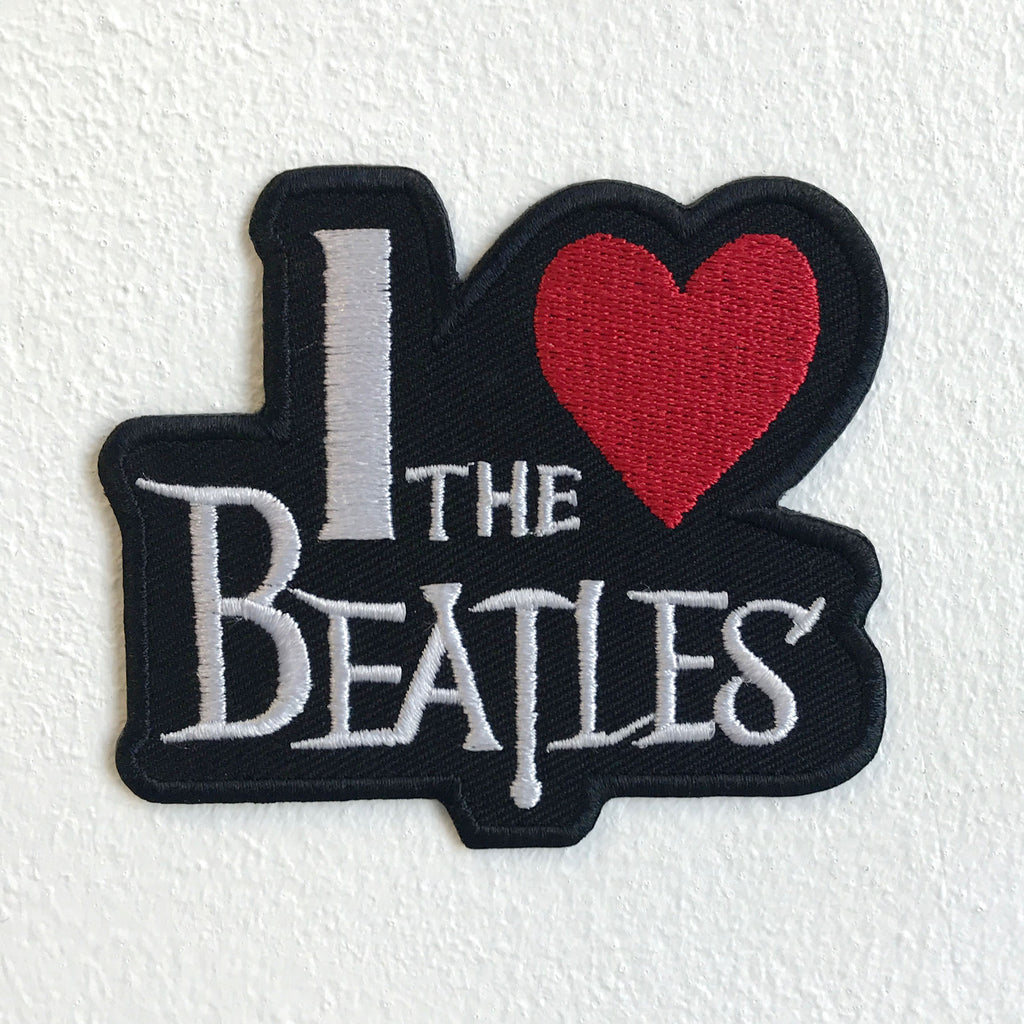 I love The Beatles Music Iron Sew on Embroidered Patch
