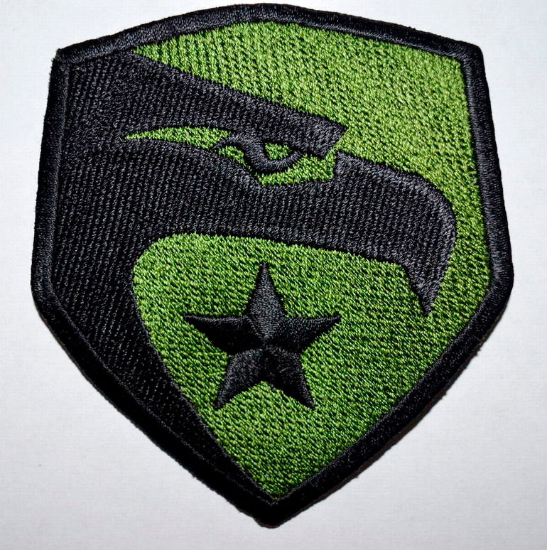 G I Joe Movie Eagle Logo Iron on Sew on Embroidered Patch Badge - Patches-Badges