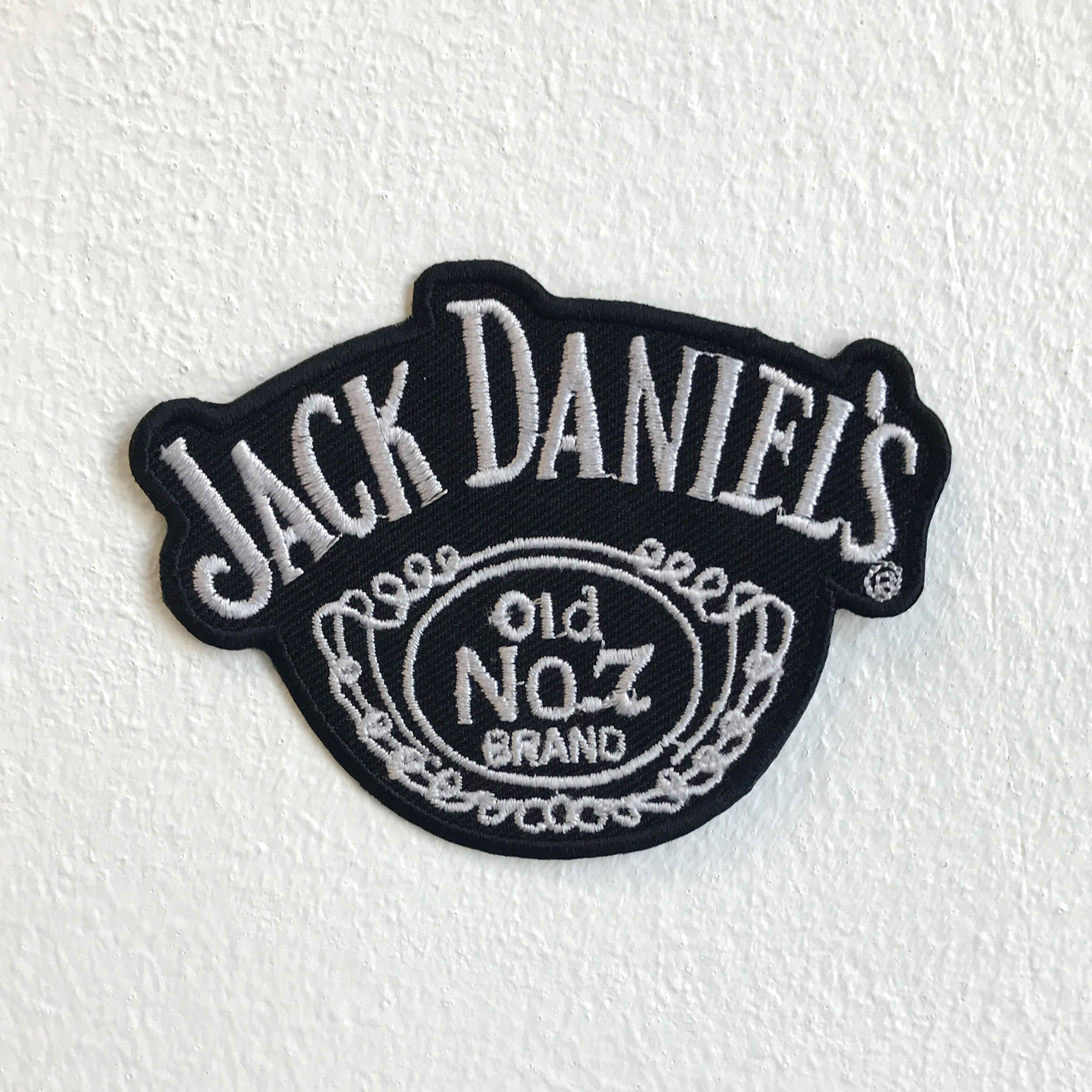 Jack Daniels Old No 1 biker badge Iron Sew on Embroidered Patch - Patches-Badges
