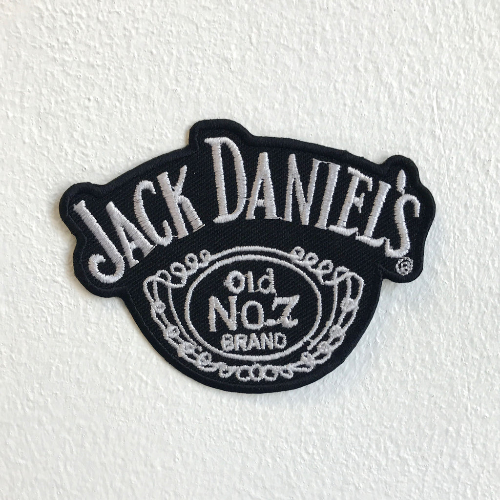 Jack Daniels Old No 1 biker badge Iron Sew on Embroidered Patch
