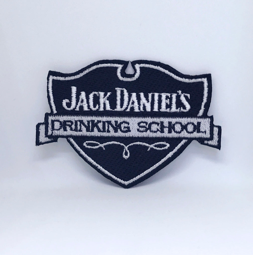 Jack Daniels Drinking School JD Iron Sew on Embroidered Patch