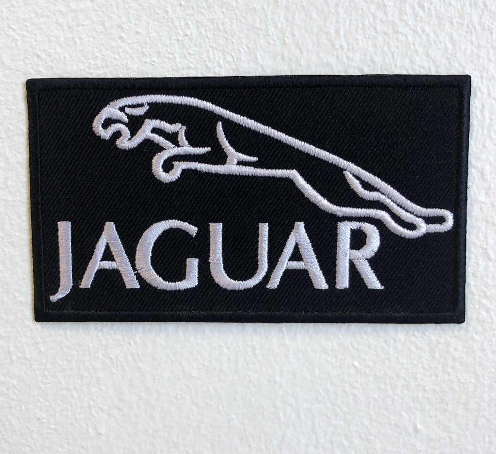 JAGUAR CAR Logo Iron on Sew on Embroidered Patch