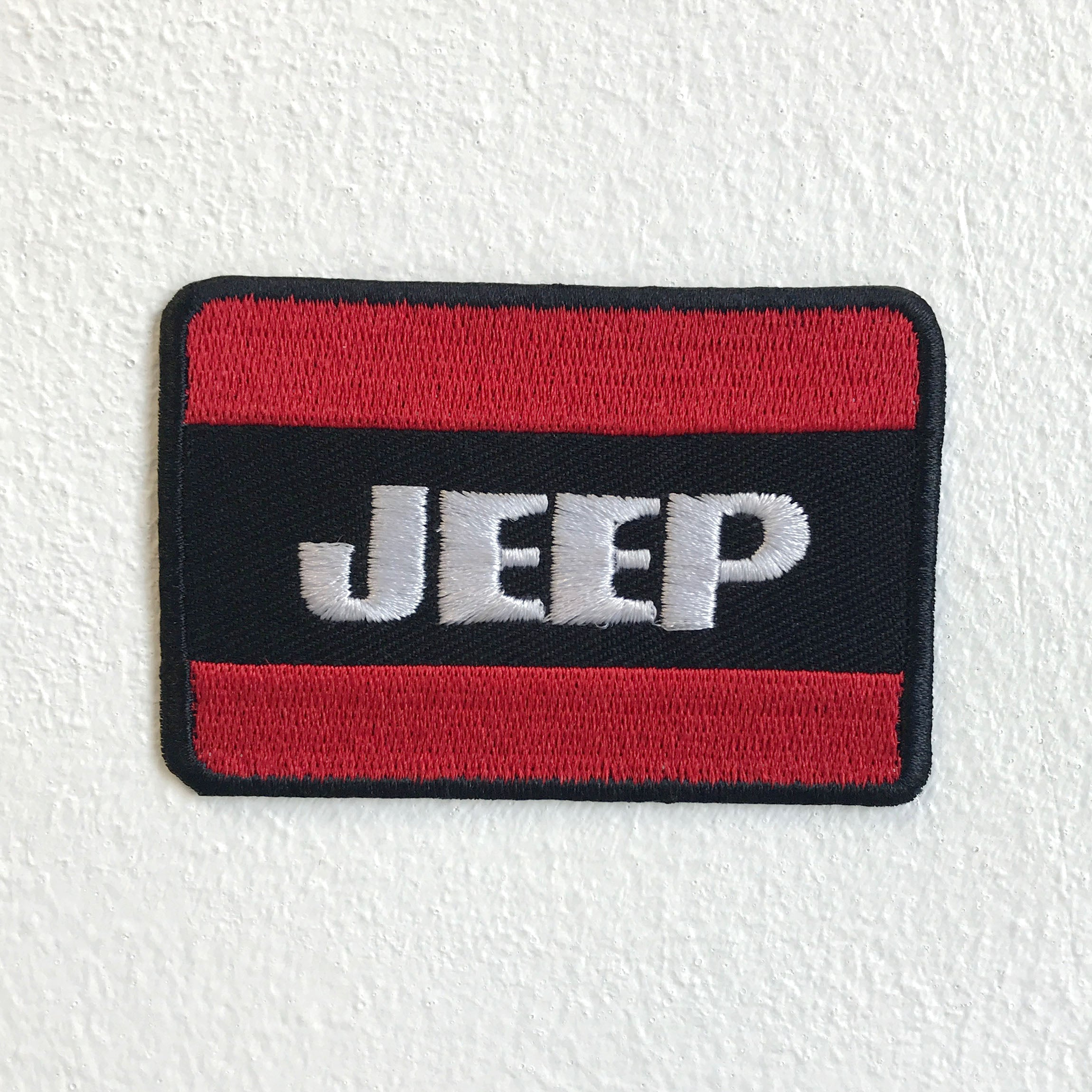 Jeep Automobile 4x4 Motorsports Biker badge Iron Sew on Embroidered Patch - Patches-Badges