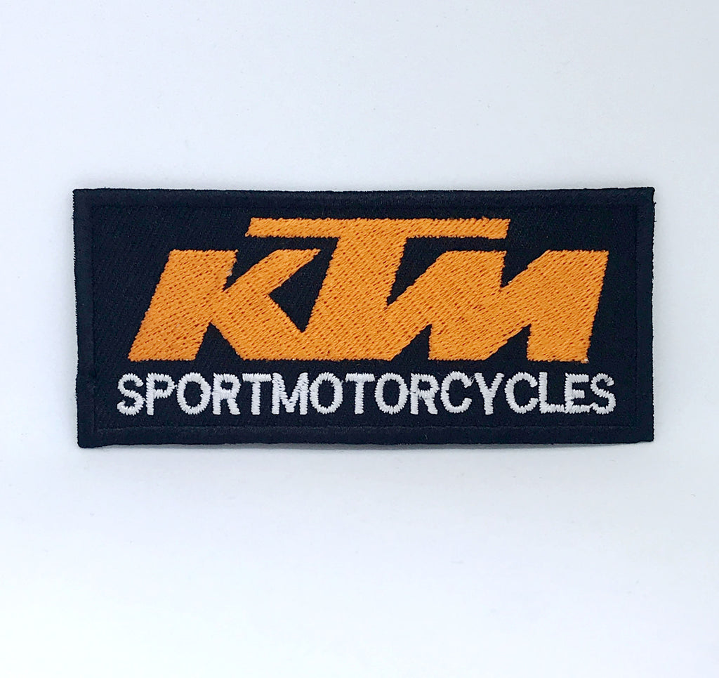 KTM Sport motorcycles logo iron on Sew on Embroidered Patch