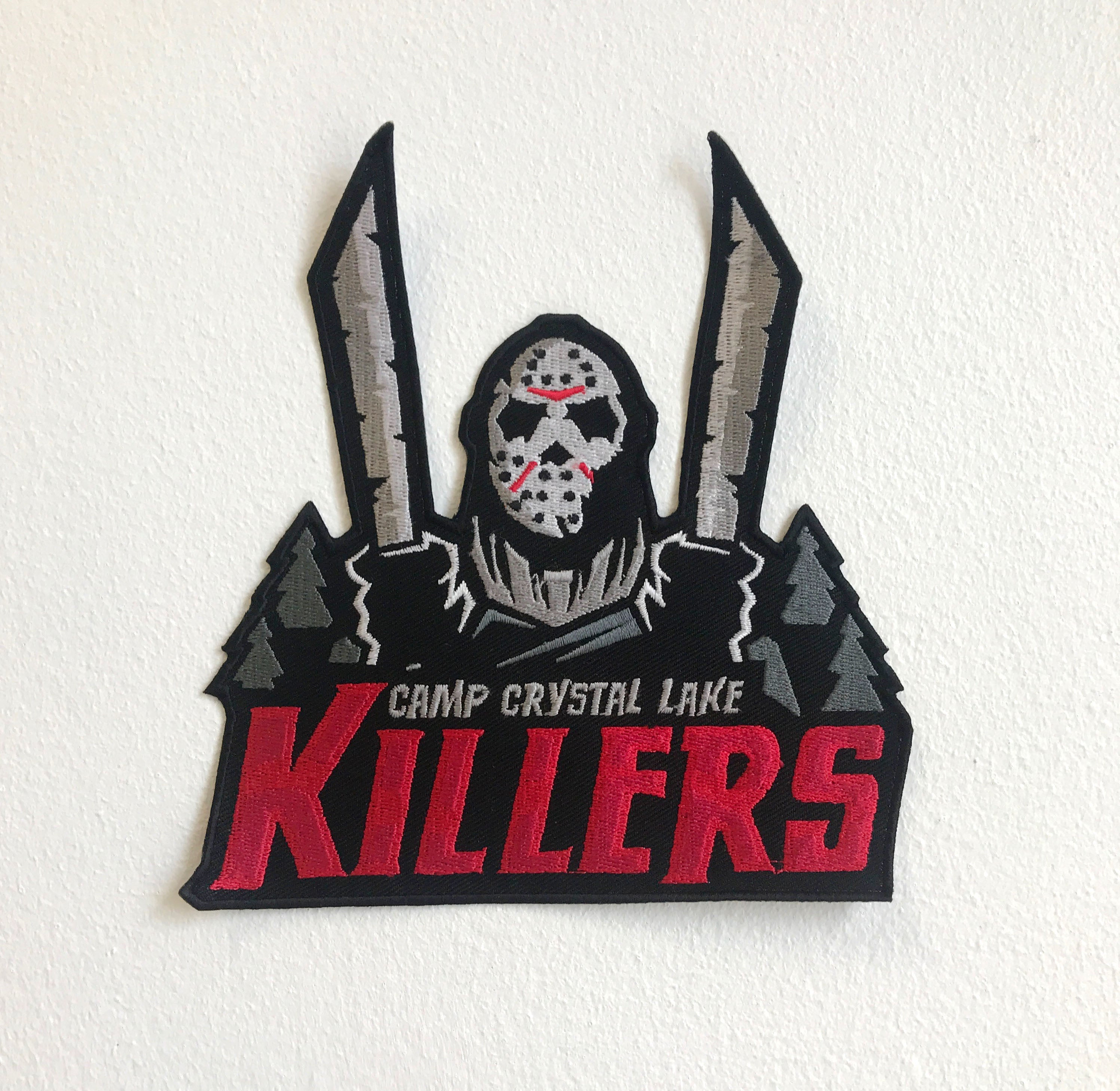 Camp Crystal Lake Killers Large Biker Jacket Back Iron/Sew On Embroidered Patch