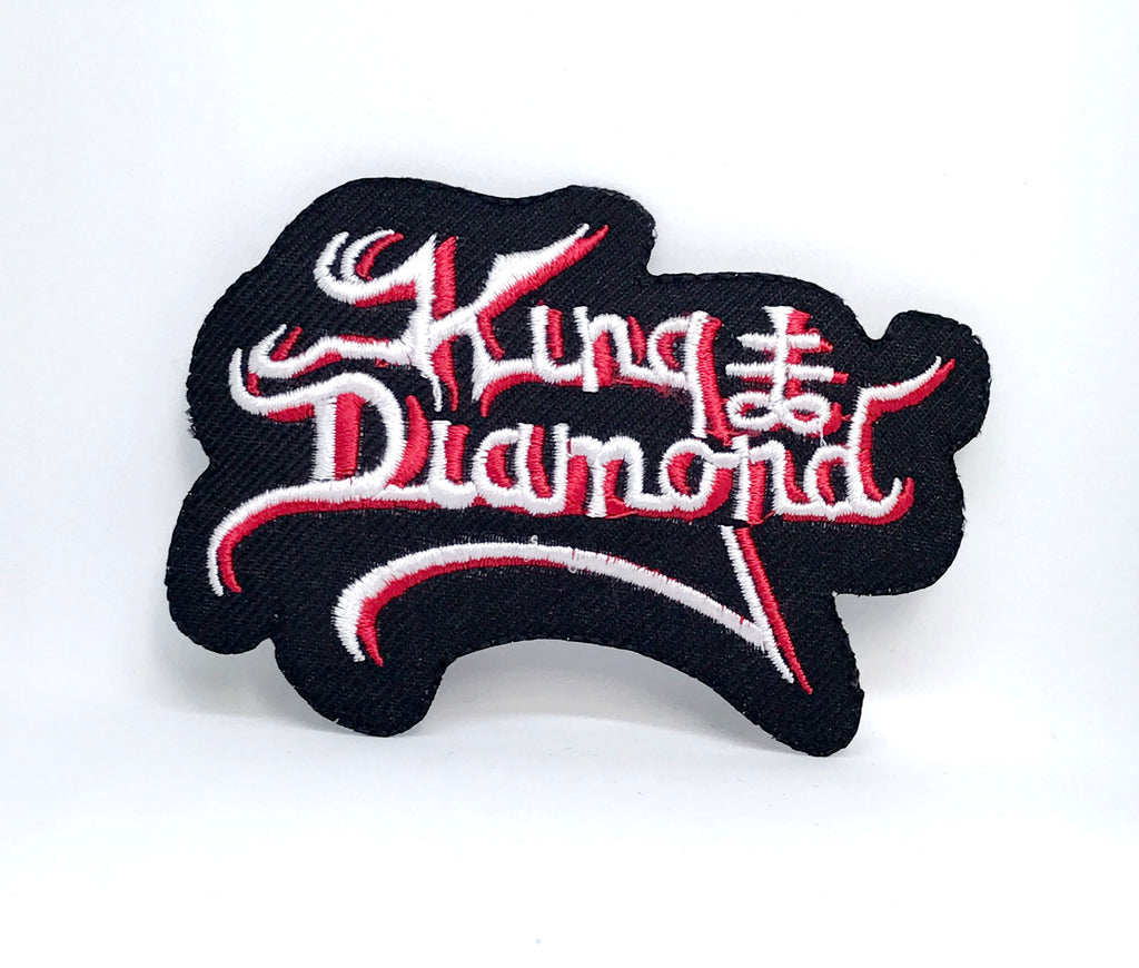 KING DIAMOND PATCH Embroidered Iron On Sew On Heavy Thrash Black Metal