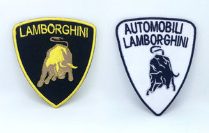 Lamborghini Automobile racing sportscar Iron on Sew on Embroidered Patch - Patches-Badges