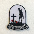 Lest we Forget Army Remembrance Poppy Badge Iron on Sew on Embroidered Patch - Patches-Badges