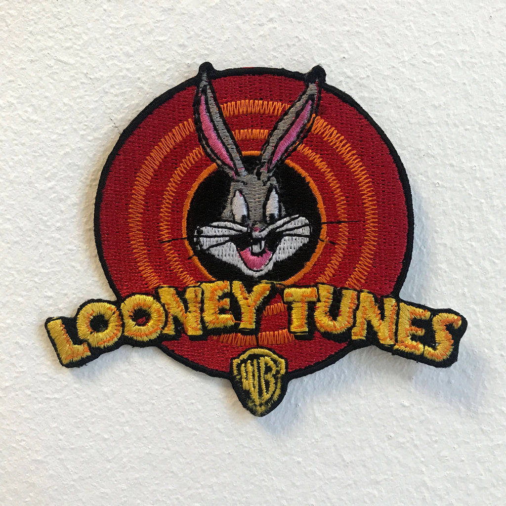 Looney Tunes Cartoons Logo Iron on Sew on Embroidered Patch