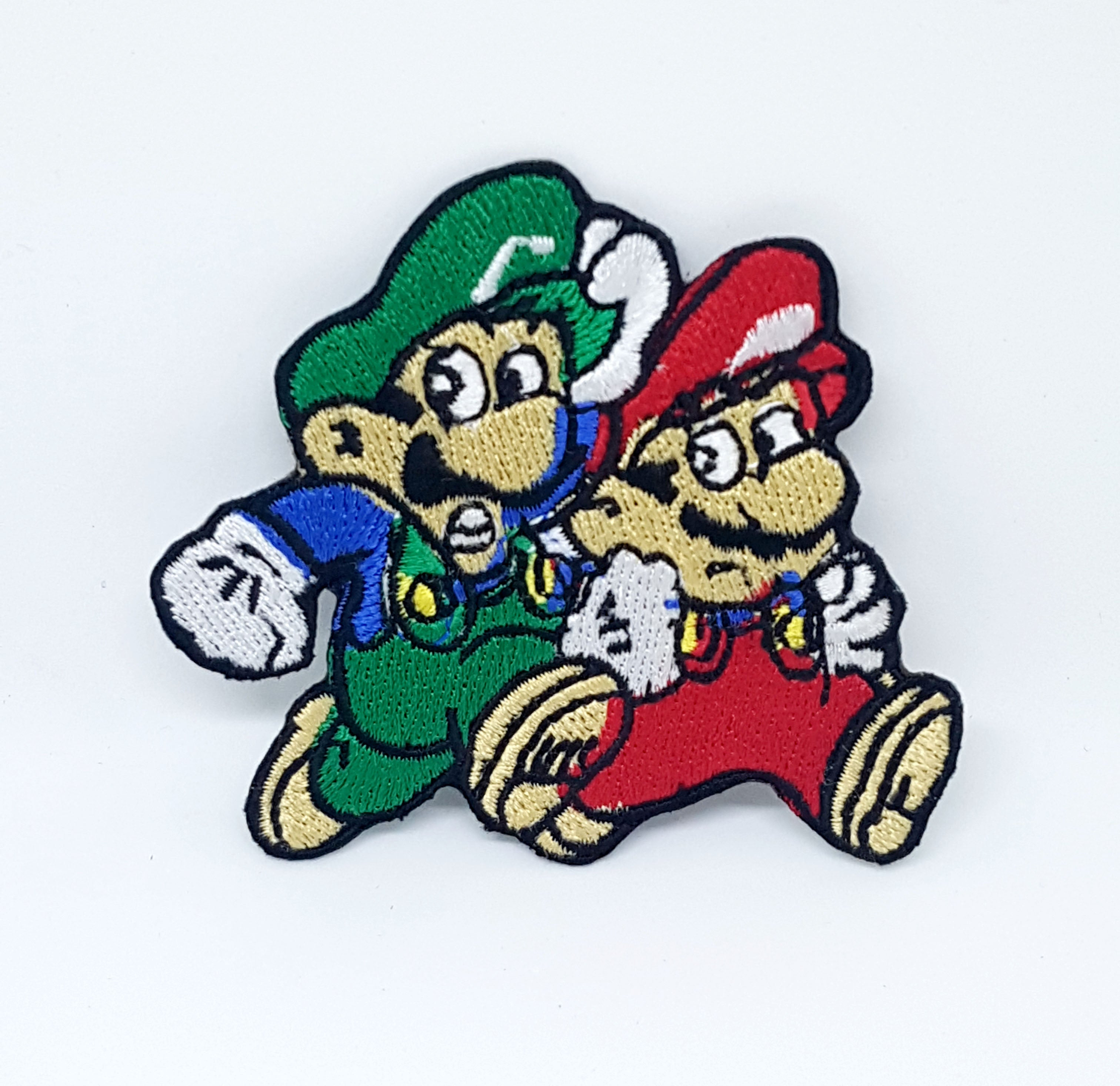 Mario and Luigi Brothers Embroidered Patch Motif Iron Or Sew on Kids
