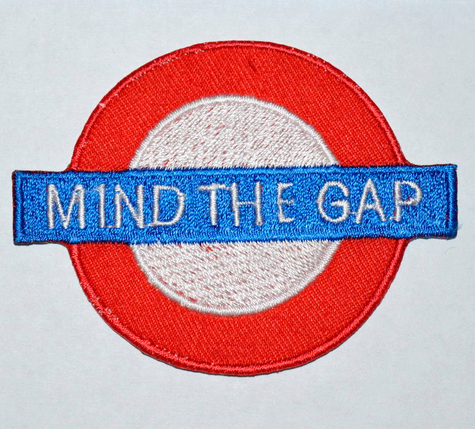 London Tube Train Mind the Gap Logo Iron on Sew on Embroidered Patch