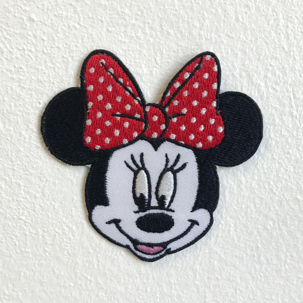 Mini Mouse Face cute Iron Sew on Embroidered Patch