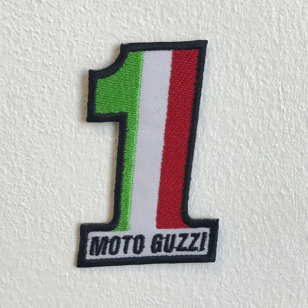 Italian Motorcycle Flag Moto Guzzi 1 Iron Sew on Embroidered Patch