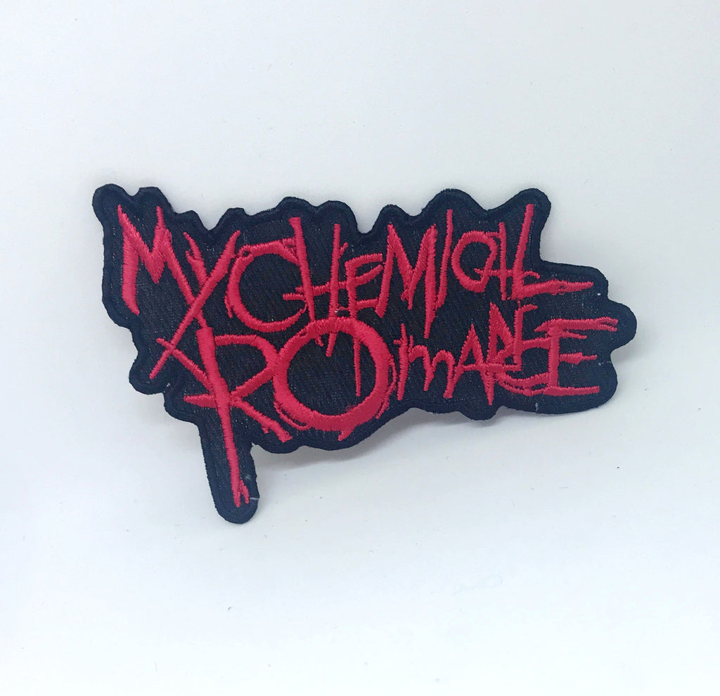 My Chemical Romance Gerard Way Punk Rock Music Iron on Sew on Embroidered Patch - Red