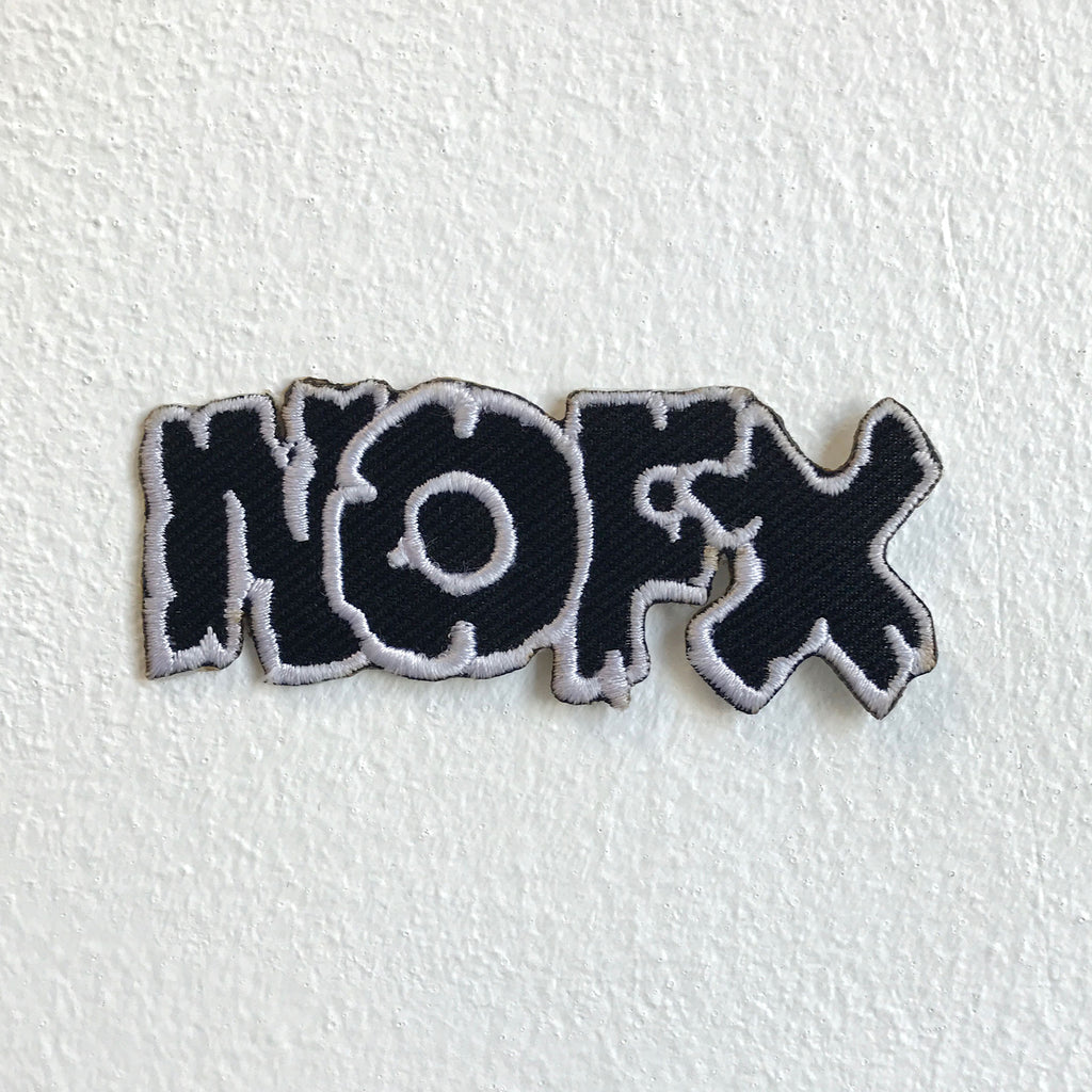 NOFX Rock Band Music Black Iron Sew on Embroidered Patch