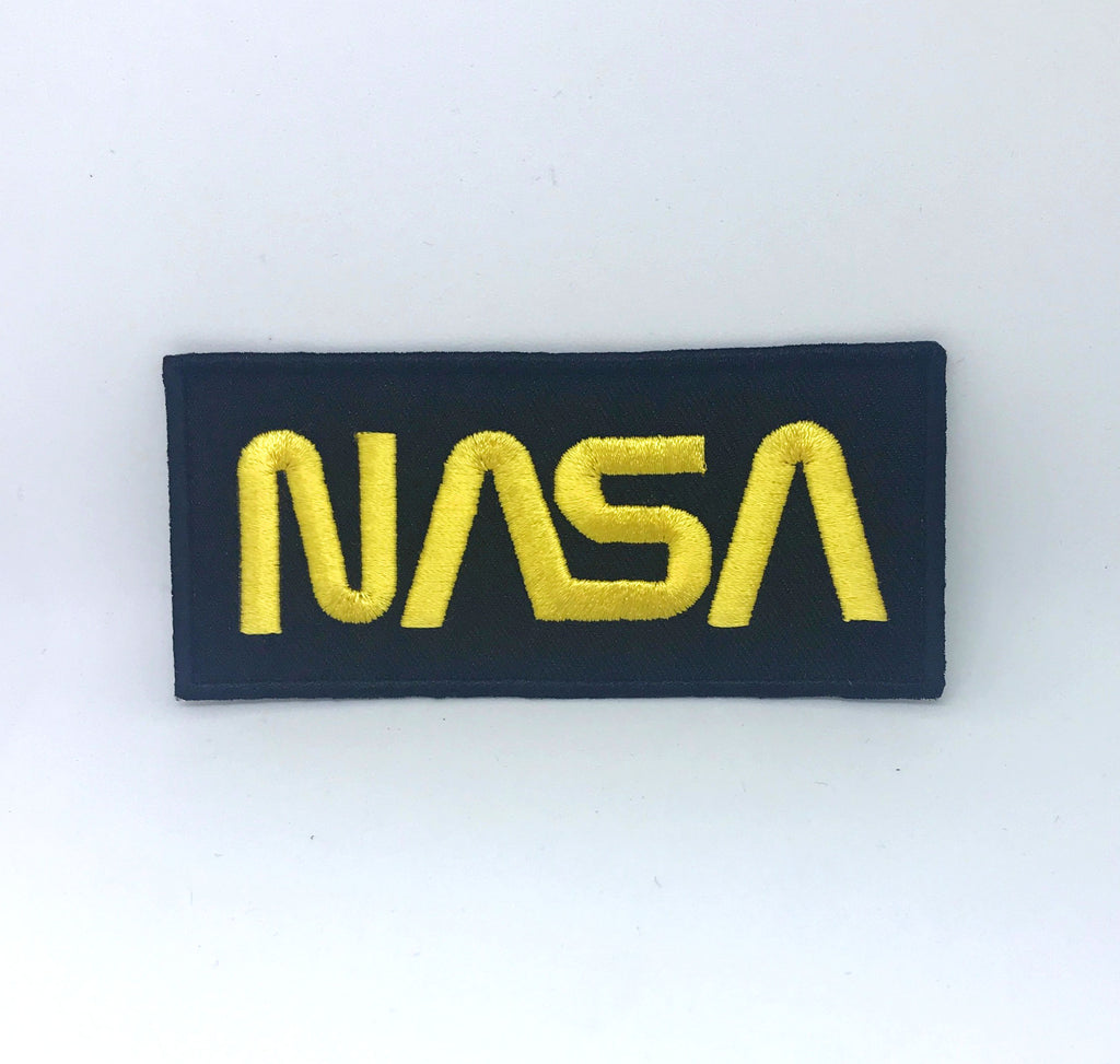 NASA Space Agency Iron On Sew on Embroidered Patch - Yellow