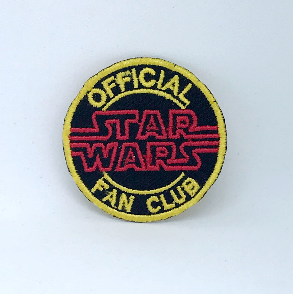 Star Wars Official Fan Club Badge Iron on Sew on Embroidered Patch