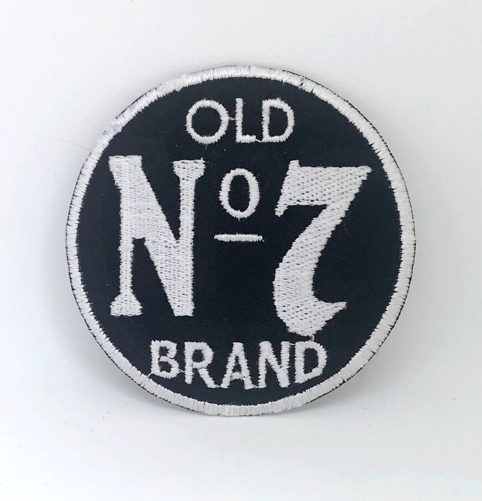 Jack Daniel's Old No 7 Large Circle Iron on Sew on Embroidered patch