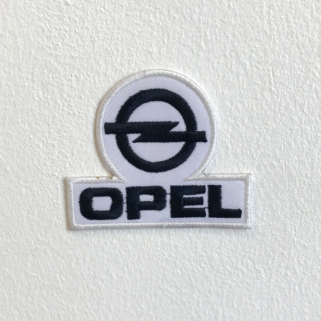 Opel Automobiles motorsports White logo Iron Sew on Embroidered Patch