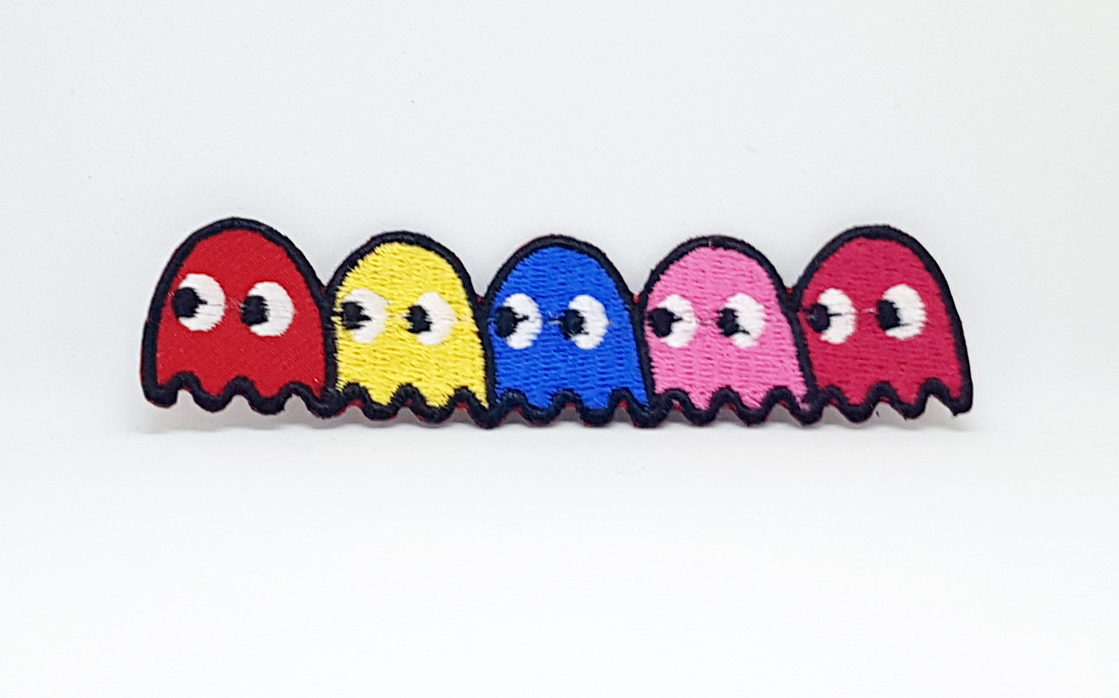 Pacman Ghost Cartoon game cute Colourful Iron/Sew on Embroidered Patch