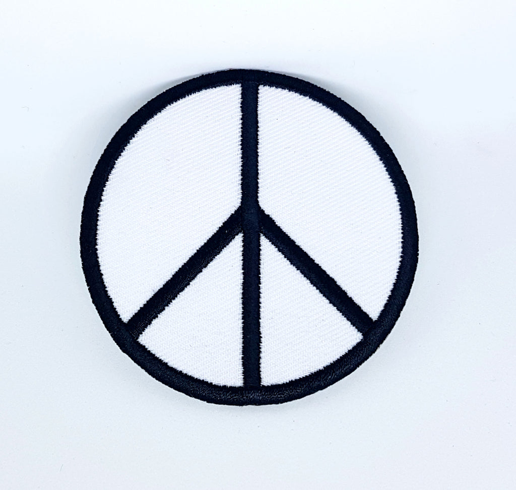 Peace symbol CND anti-war Embroidered iron on patch badge logo