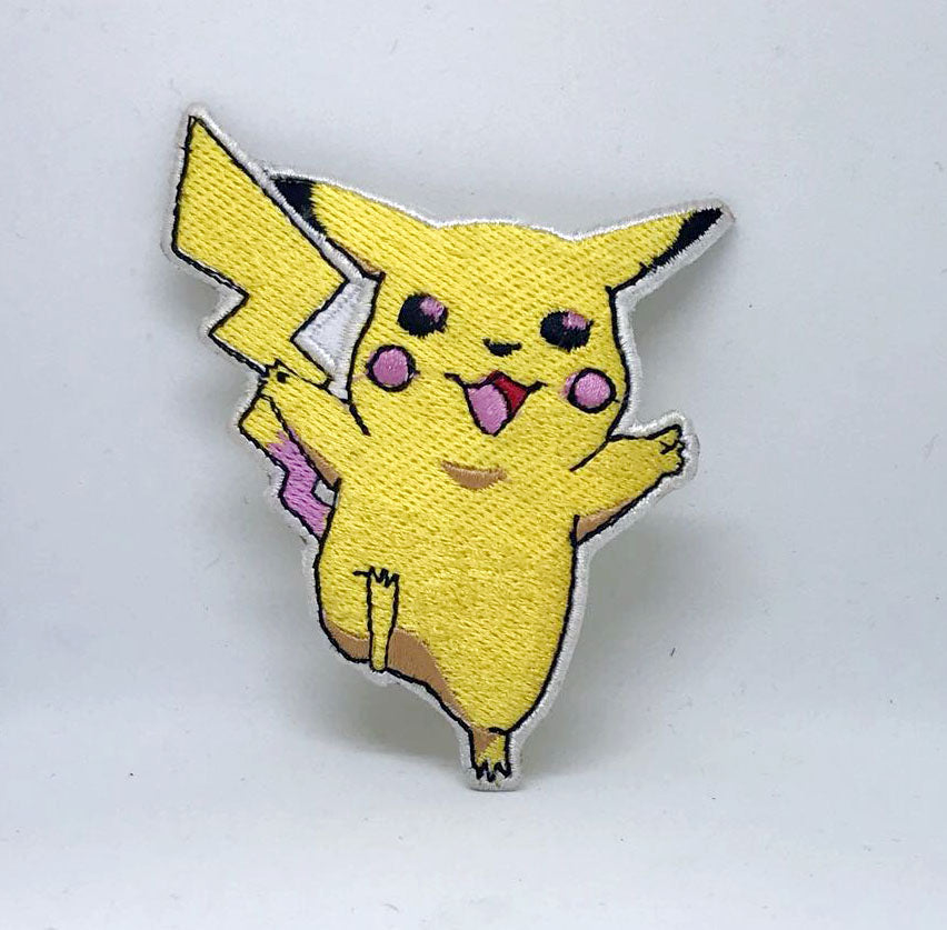 Pikachu of Pokemon Catch them all Iron on Sew on Embroidered Patch