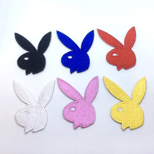 Playboy Bunny rabbit colourful Iron on Sew on Embroidered Patch