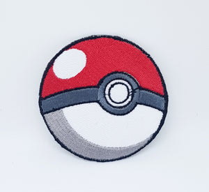 Pokemon Pokeball Iron on Patch Applique Embroidered Game Patch