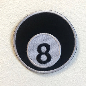 8 Ball Pool Table Game Iron on Sew on Embroidered Patch