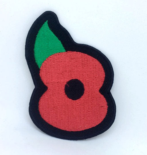 Poppy Flower Badge Iron On Sew On Embroidered Patch Patches Badges