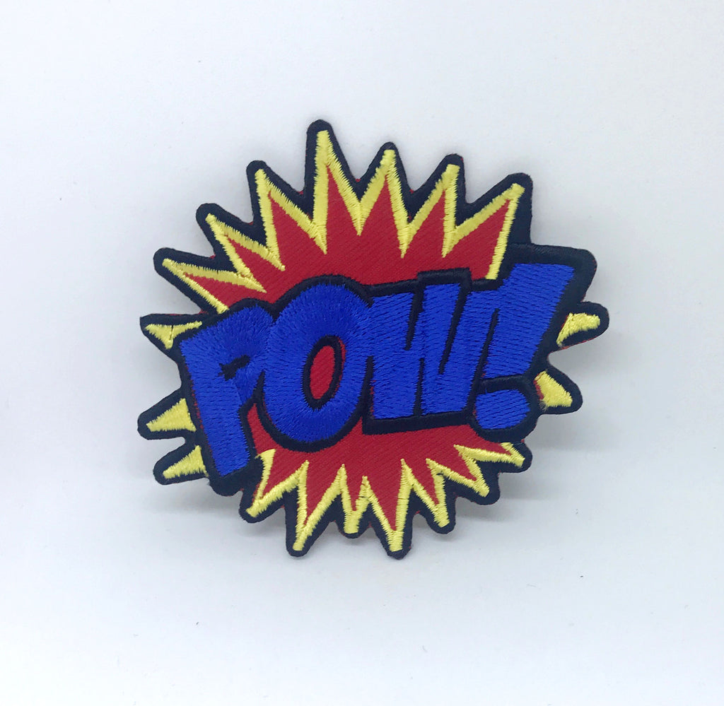 POW Batman Superman Spiderman Iron on Sew On Embroidered Patch