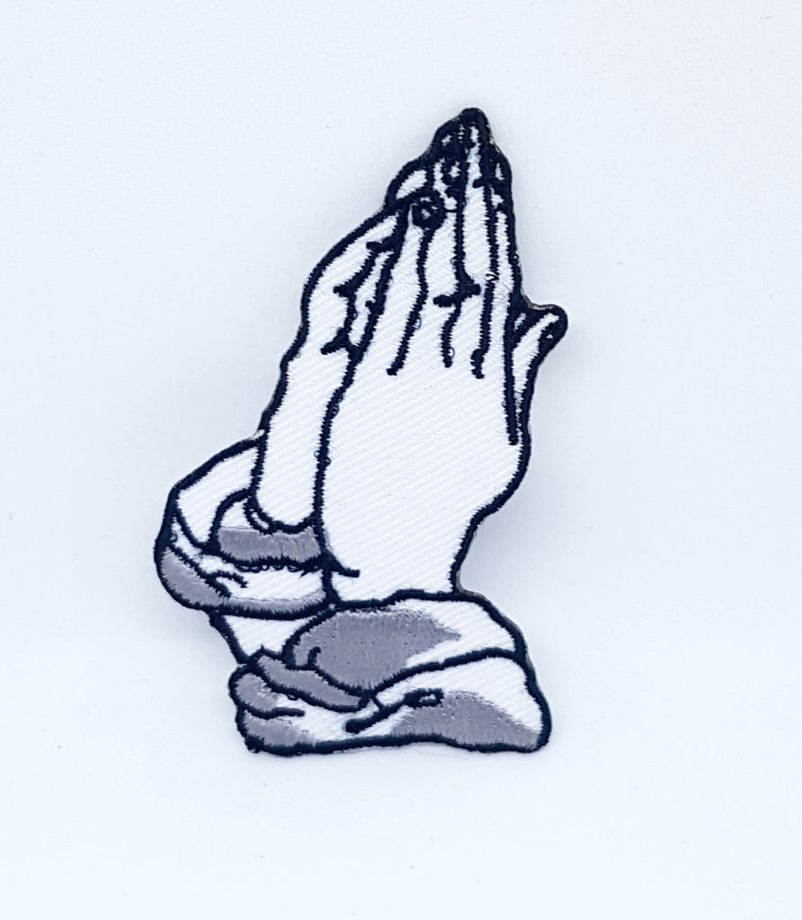 Praying Hands biker vest jacket iron sew on Embroidered patch