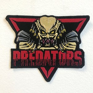 Alien vs Predators Badge Iron on Sew on Embroidered Patch - Patches-Badges