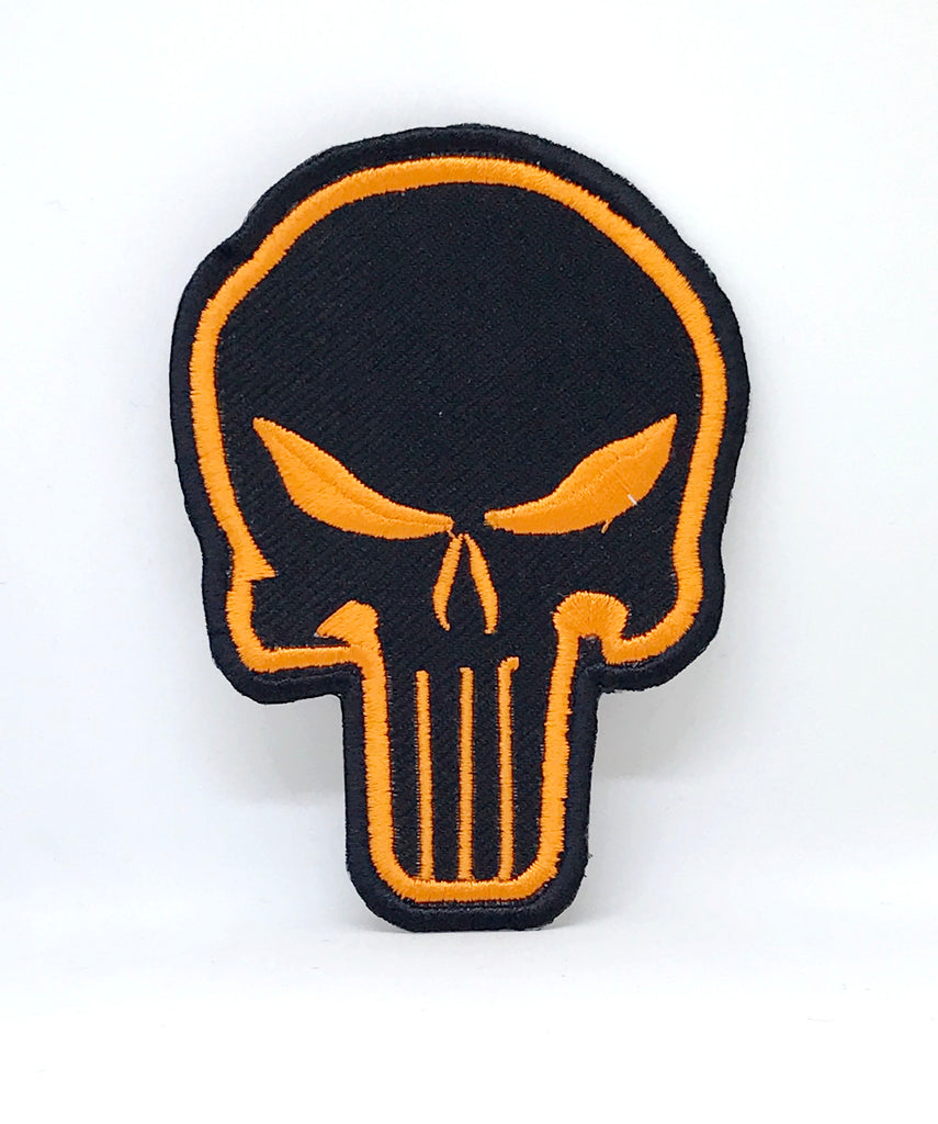 Comic Character Marvel Avengers  Iron or Sew on Embroidered Patches - The Punisher Orange - Patches-Badges