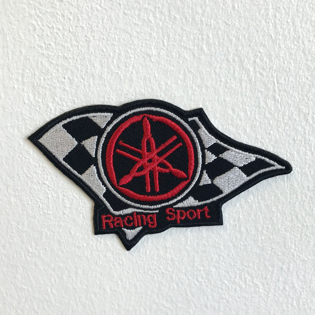 Racing Sport Yamaha Motorsports badge Iron Sew on Embroidered Patch