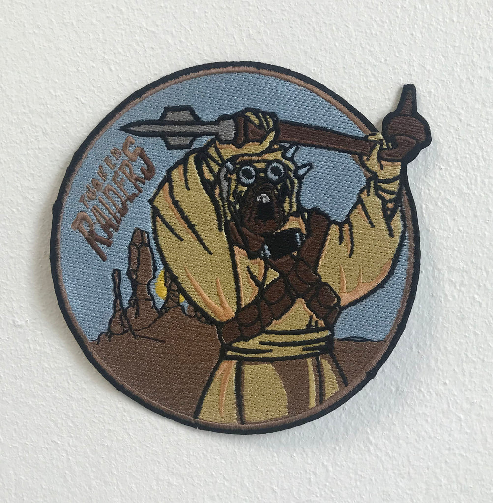 Tusken Raiders Large Biker Jacket Back Iron/Sew On Embroidered Patch