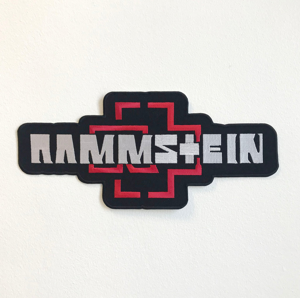 Rammstein Music Band Large Biker Jacket Back Sew On Embroidered Patch