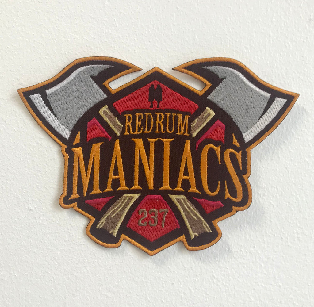 Redrum Maniacs Large Biker Jacket Back Iron/Sew On Embroidered Patch