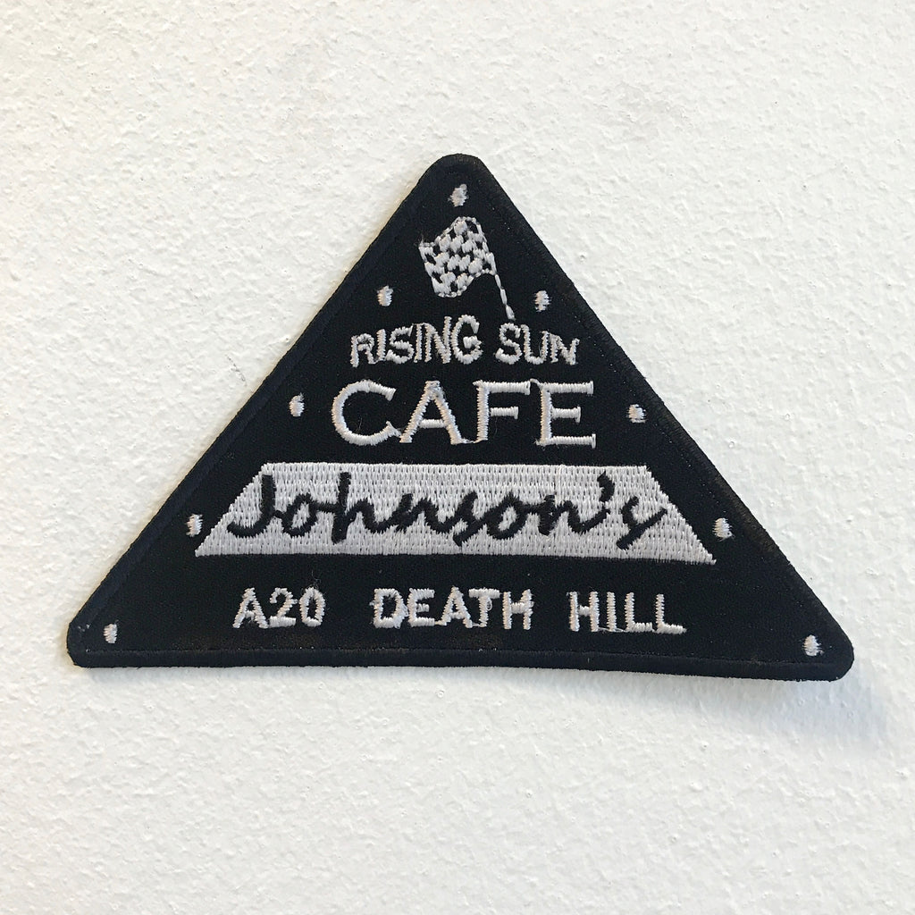 Cafe Johnson's Rising Sun Badge Iron on Sew on Embroidered Patch - Patches-Badges