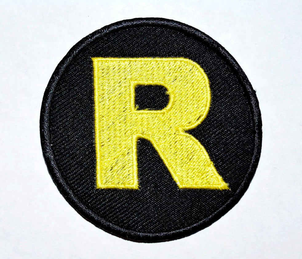 Marvel Avengers and DC Comics Iron or Sew on Embroidered Patches - Robin Logo Classic
