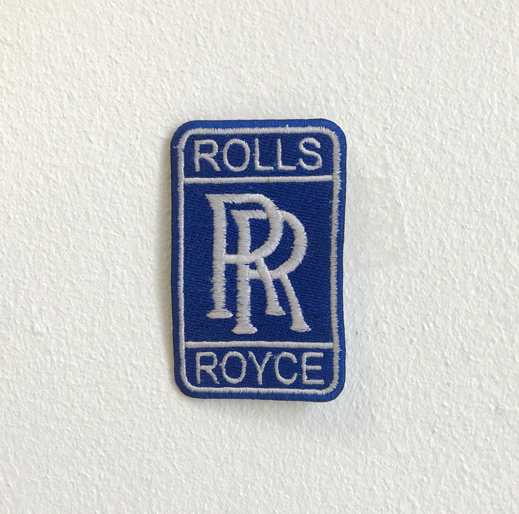 Rolls Royce Motor Cars Logo Iron on Sew on Embroidered patch