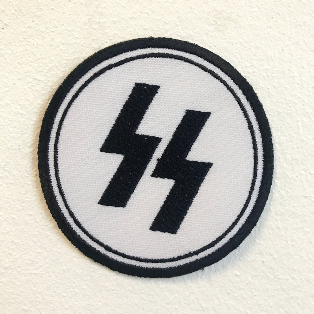 SS Nazi Army Badge Iron on Sew on Embroidered Patch