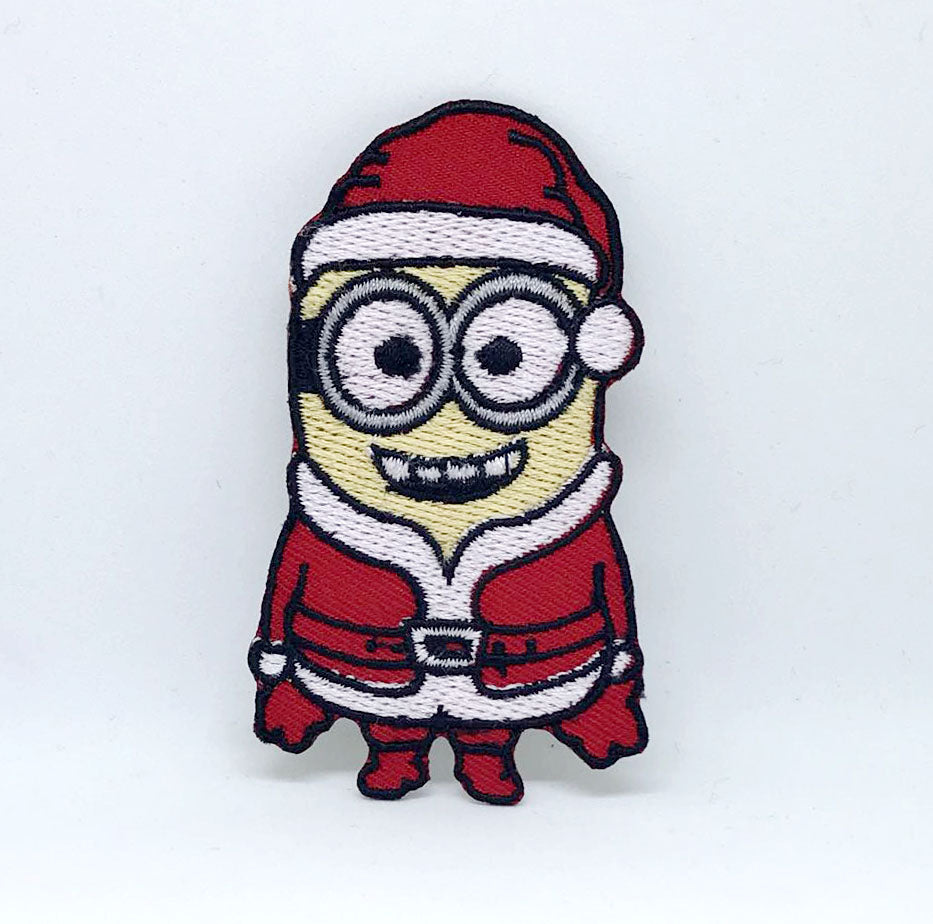 Santa Claus Minion Christmas Xmas Cartoon Embroidered Iron on Patch