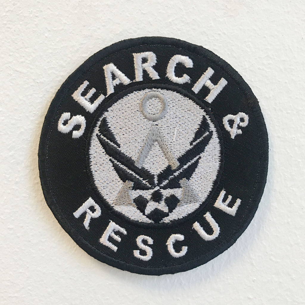 Search and Rescue Badge Iron on Sew on Embroidered Patch