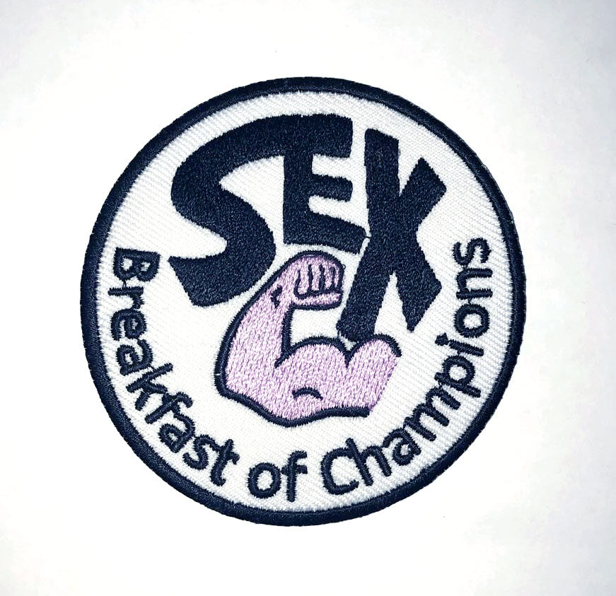 SEX Breakfast of Champions F1 James Hunt Racing Iron On Embroidered Patch
