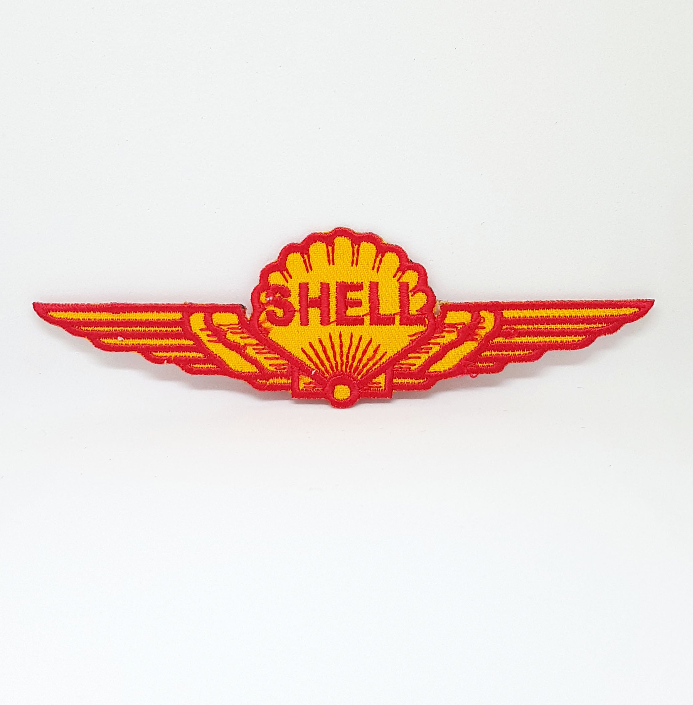 Shell wings gasoline motor oil Iron Sew on Embroidered Patch