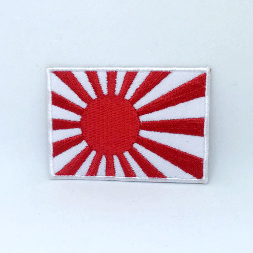 Japanese Rising Sun flag Iron on Sew on Embroidered Patch