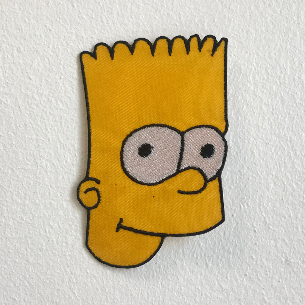 Simpson Face Cartoon animation Iron Sew On Embroidered Patch